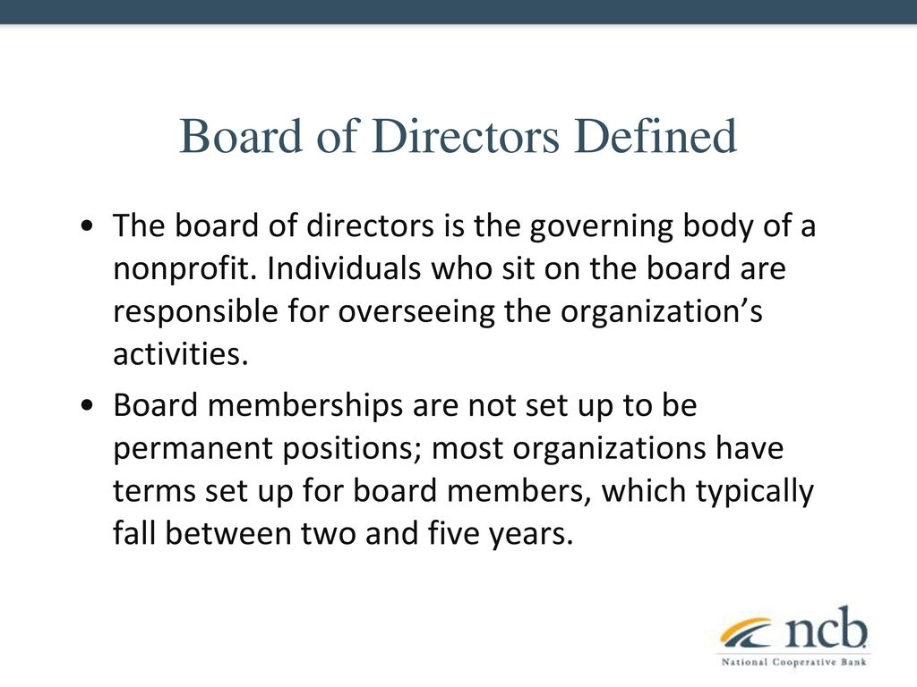 being on a board of directors - ppt download