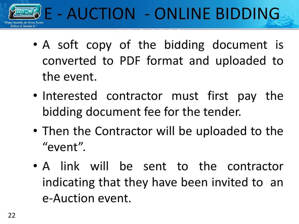 E-Tendering and E-Auction - ppt video online download