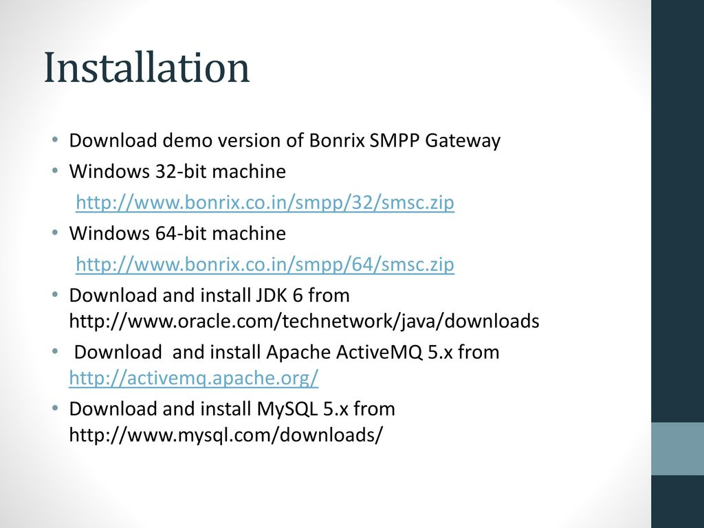 Bonrix SMPP Gateway ppt download