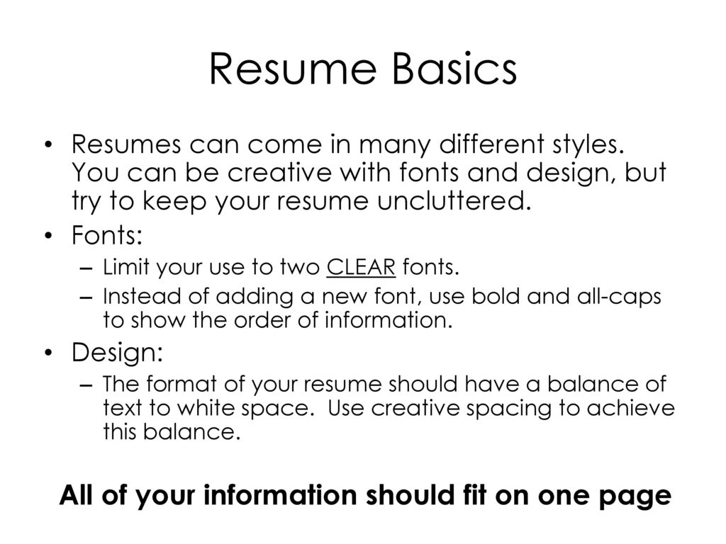 resume writing for high school students ppt download
