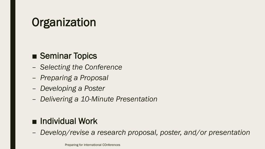 Preparing for International Conferences - ppt video online