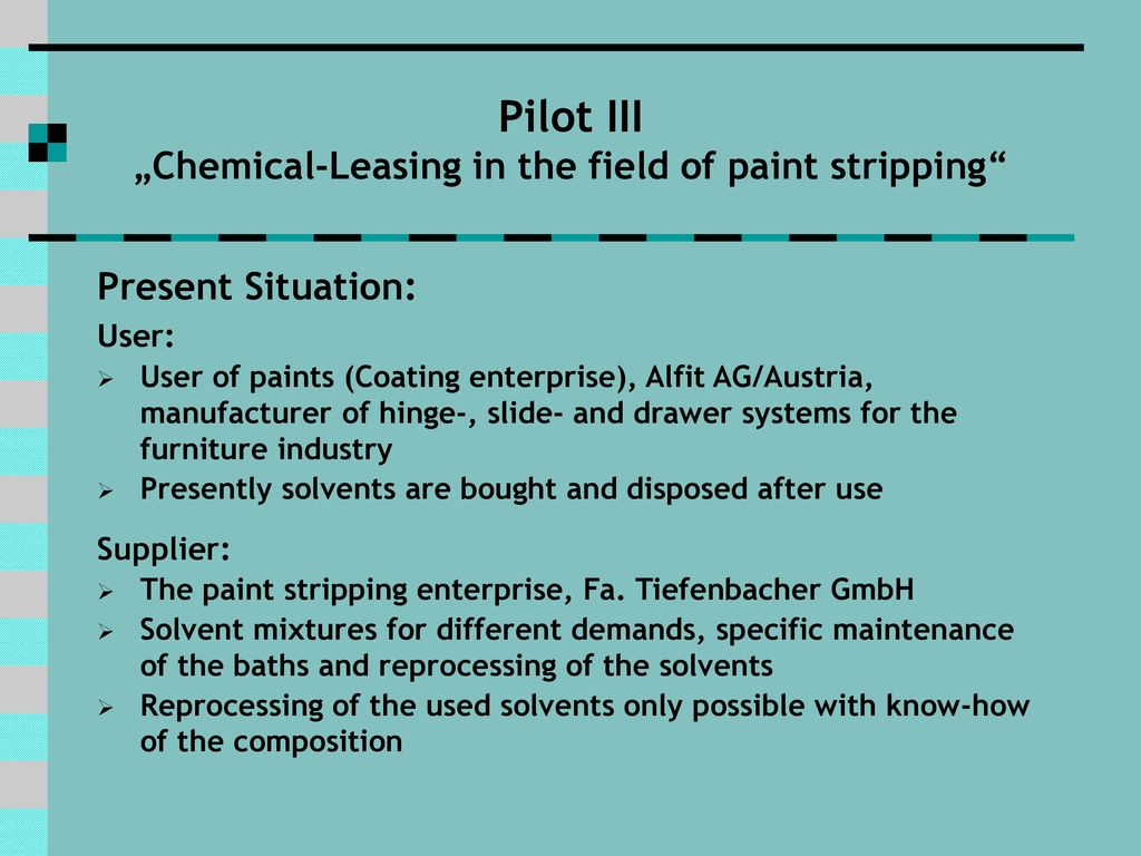 Chemical Leasing – The Austrian Experience - ppt download