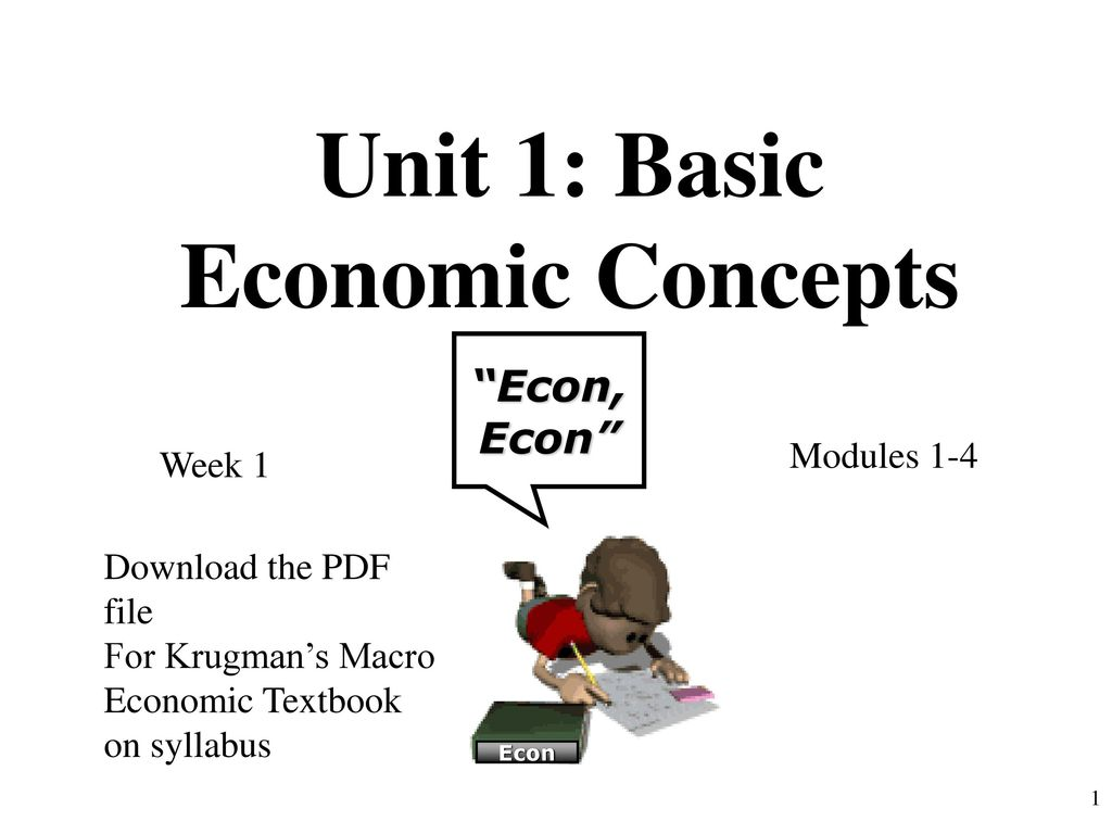 Basic Concepts Of Economics Pdf