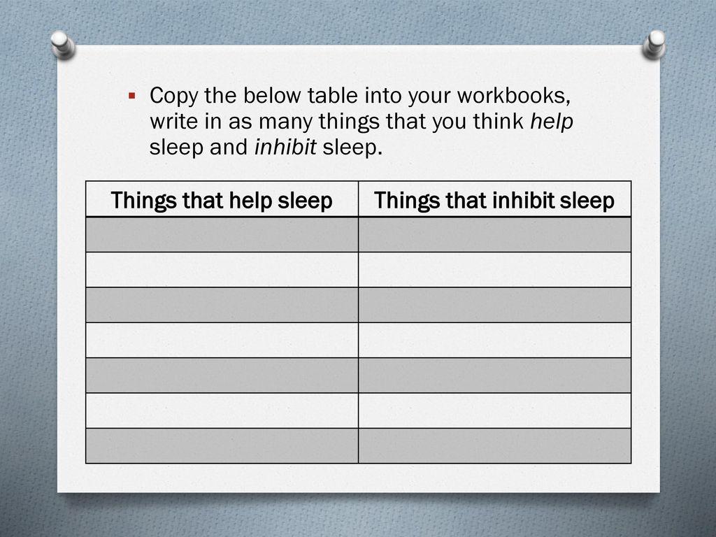 4 Things That Inhibit Sleep