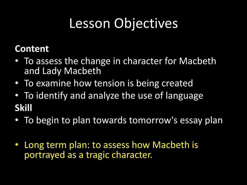 lady macbeth essay plan