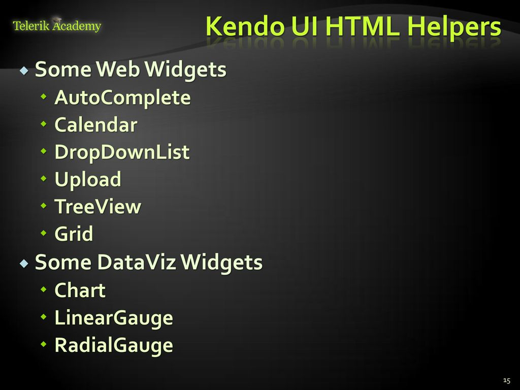 Kendo UI ASP NET MVC Wrappers - ppt video online download