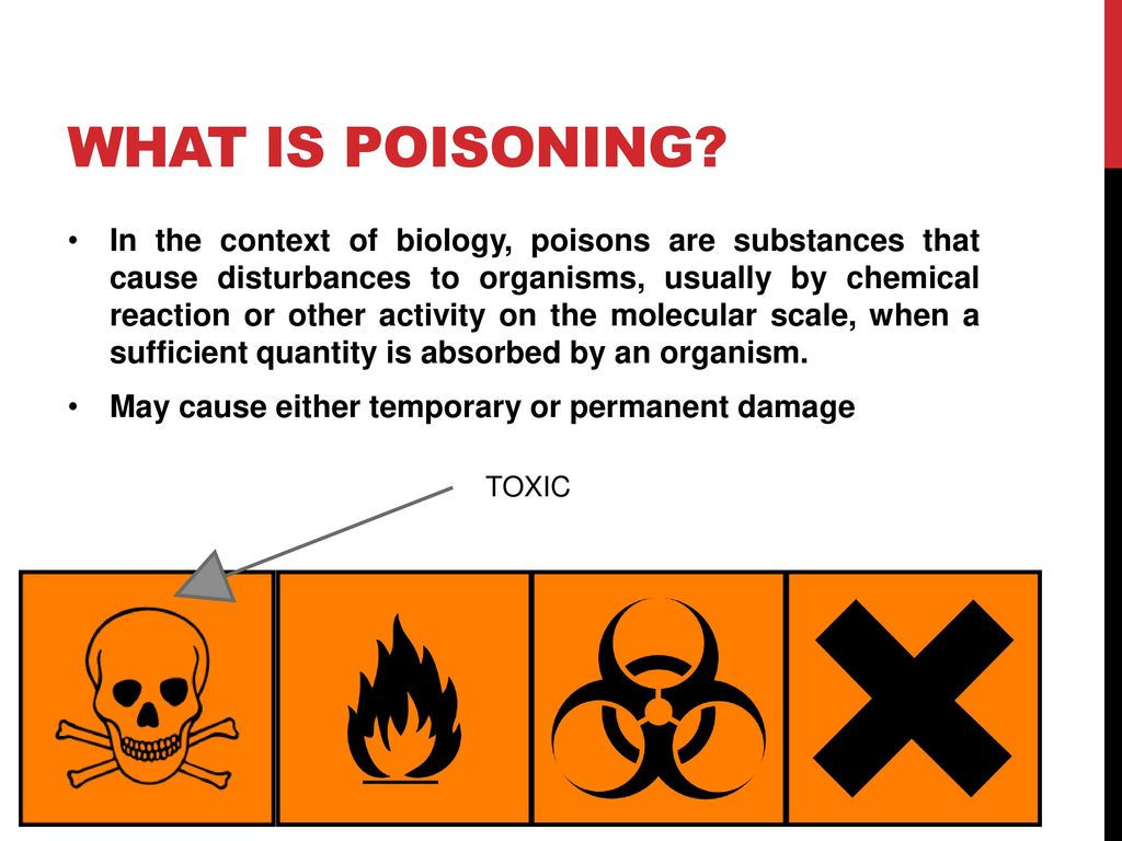 What is poisoning
