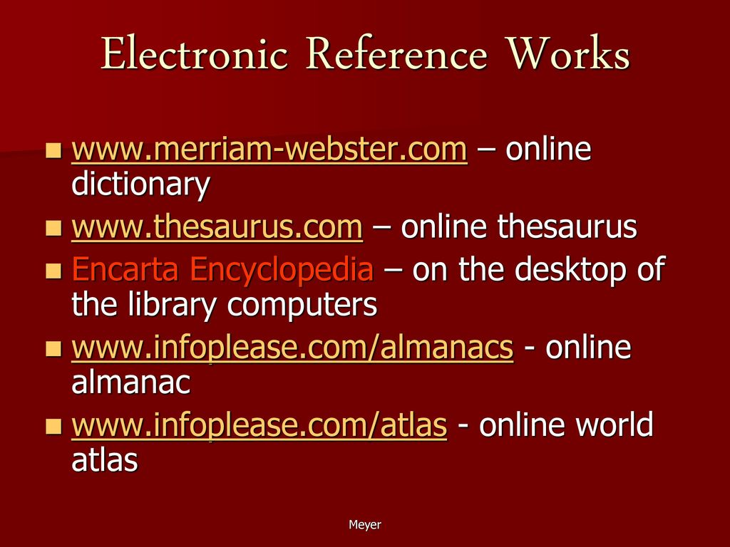 Reference You can refer to a reference work - ppt download