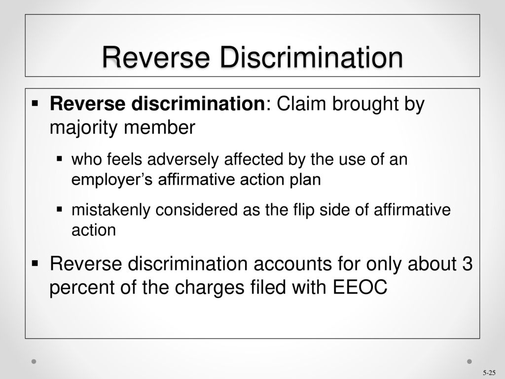 is affirmative action a form of reverse discrimination
