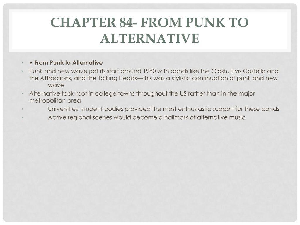 when did alternative music start