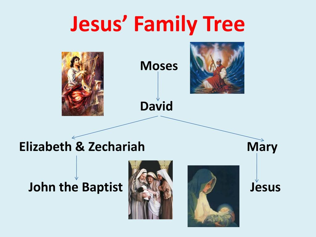 Jesus Family Tree Moses David Elizabeth Zechariah Mary John The Baptist Jesus Ppt Download