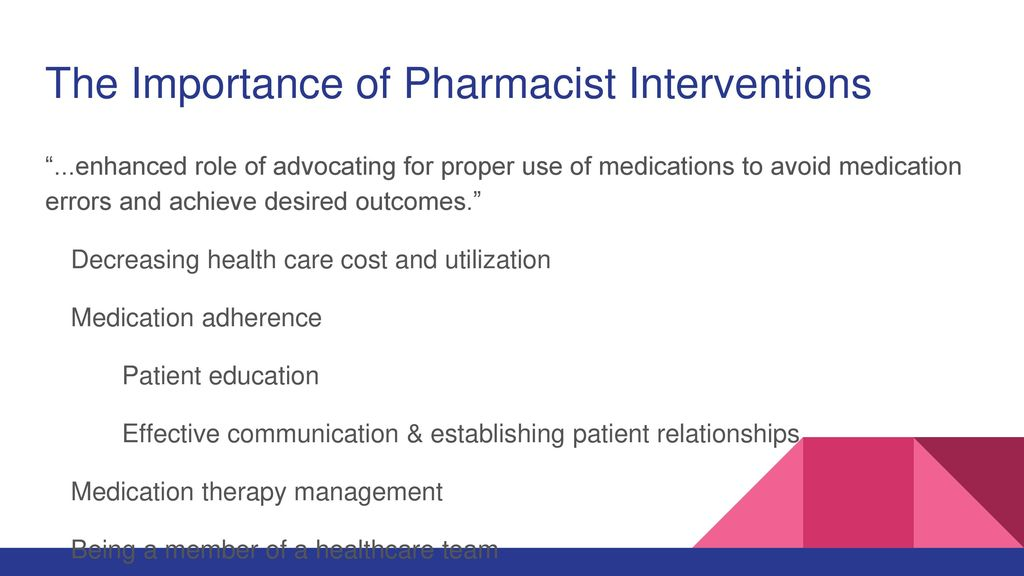 Pharmacist Interventions and Healthcare Utilization and Cost - ppt