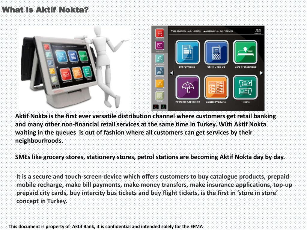 Aktif Nokta This document is property of Aktif Bank, it is