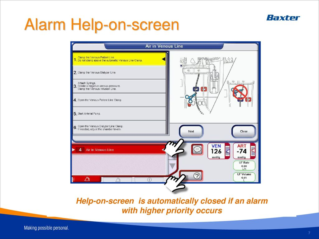 Alarm Help-on-screen. Alarm Help-on-line. Operator's Manual
