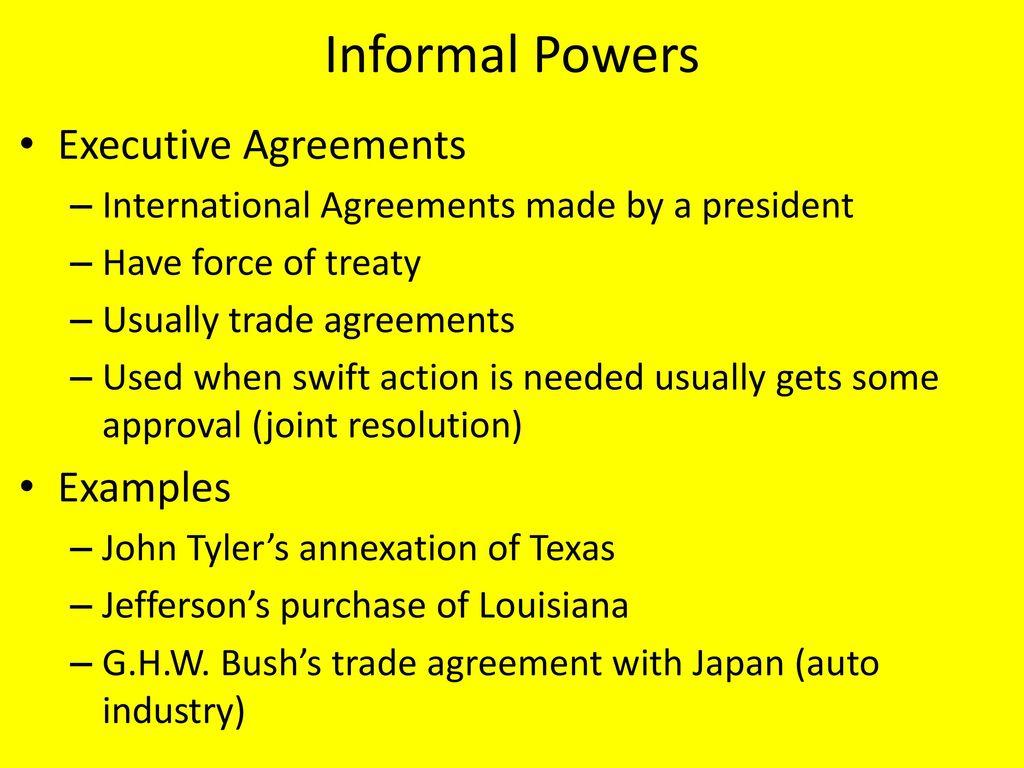 Presidency key terms.