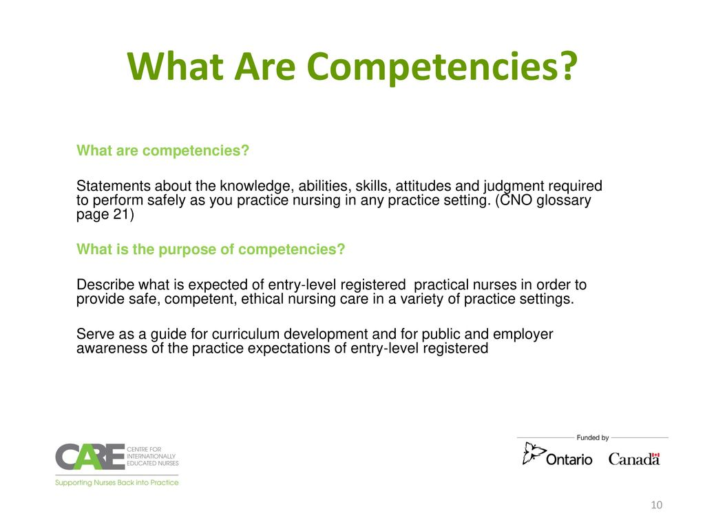 10 What Are Competencies?