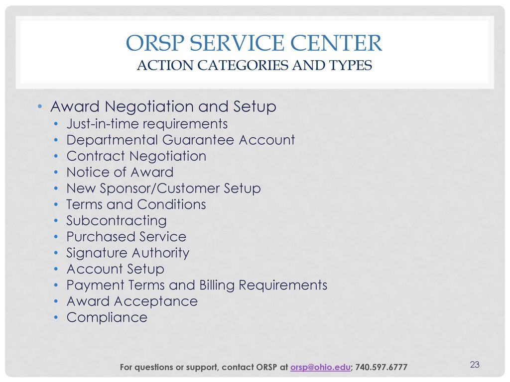 ORSP Service Center User Tutorial - ppt download