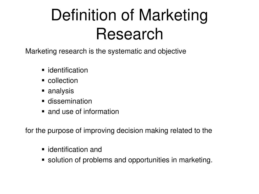marketing research. - ppt download