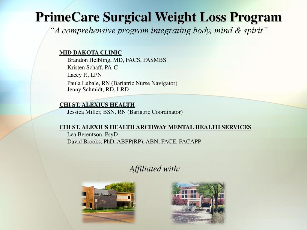 Primecare Surgical Weight Loss Program Ppt Download