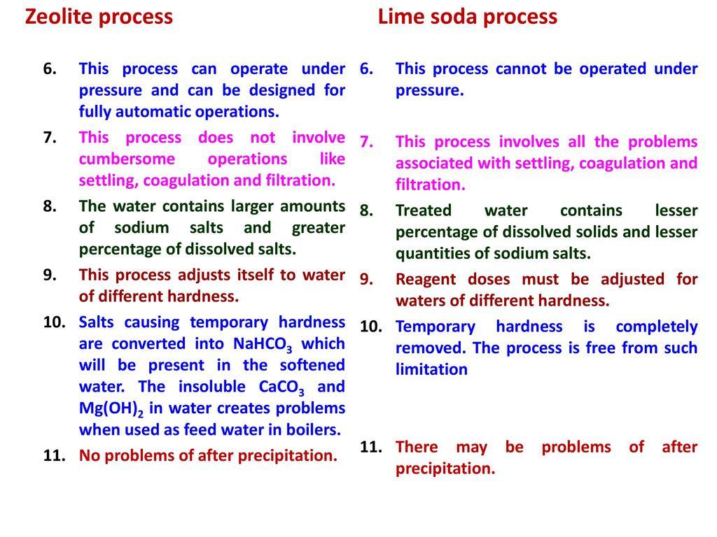 Water Softening Techniques Dr Prabha Joshi Asst Professor Ppt Zeolite Process Flow Diagram 24