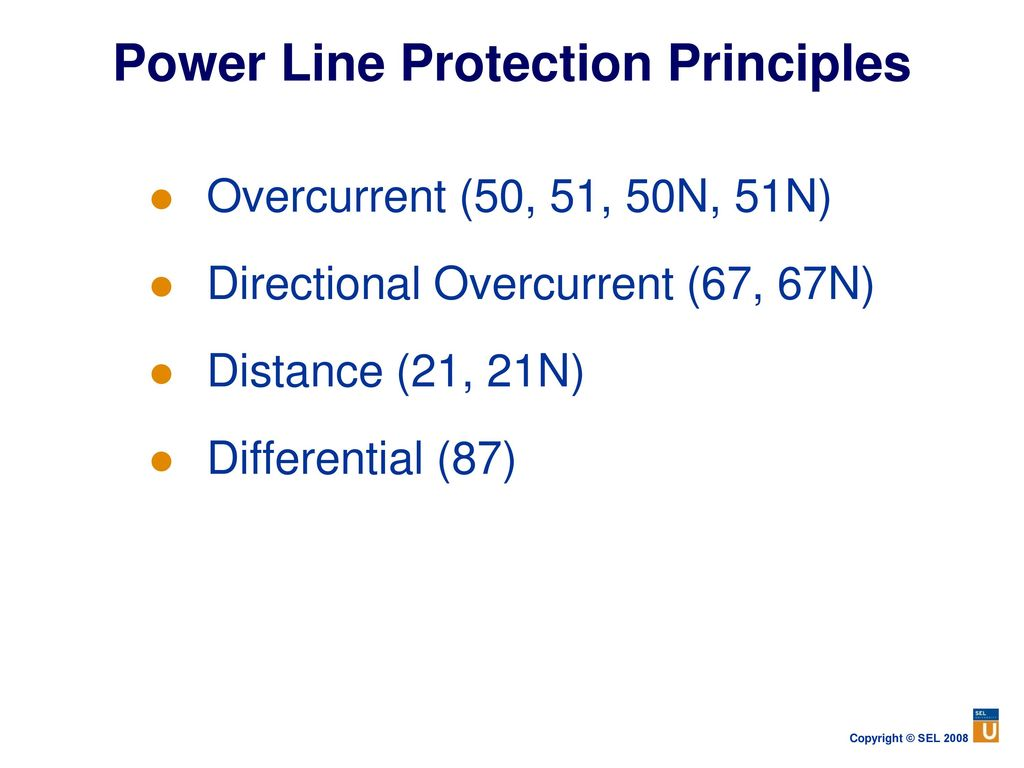 Power System Protection Fundamentals Ppt Download Electrical Overcurrent Relay Line Principles