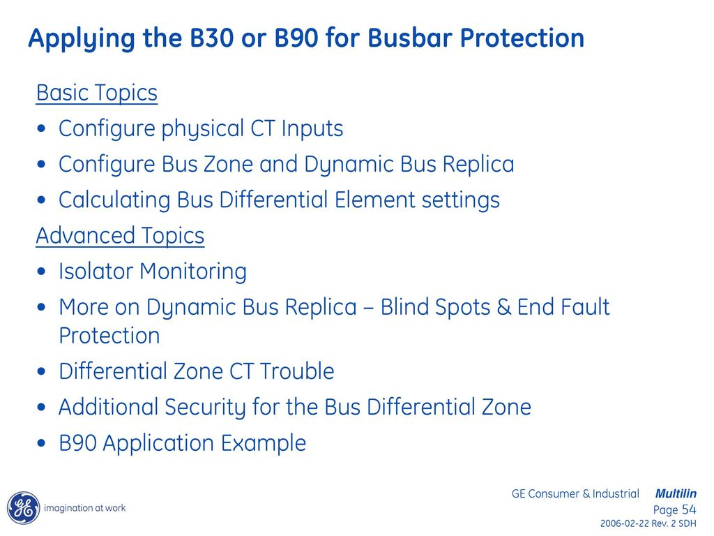 Bus Differential Protection Applications Using the GE B30 and B90