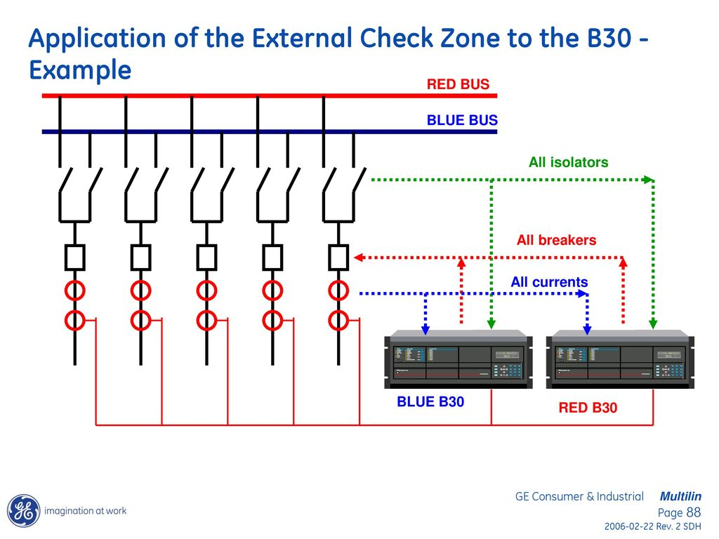 Bus Differential Protection Applications Using The Ge B30 And B90 Relay Circuit Calculation Application Of External Check Zone To Example
