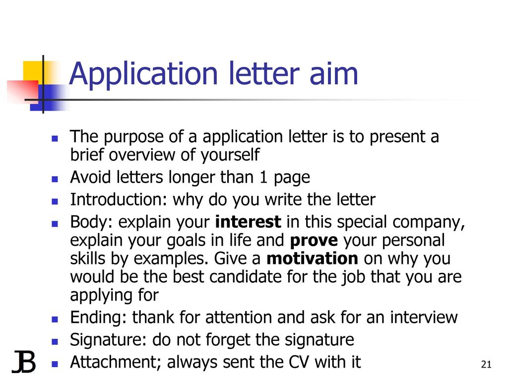 writing a cv and application letter ppt download