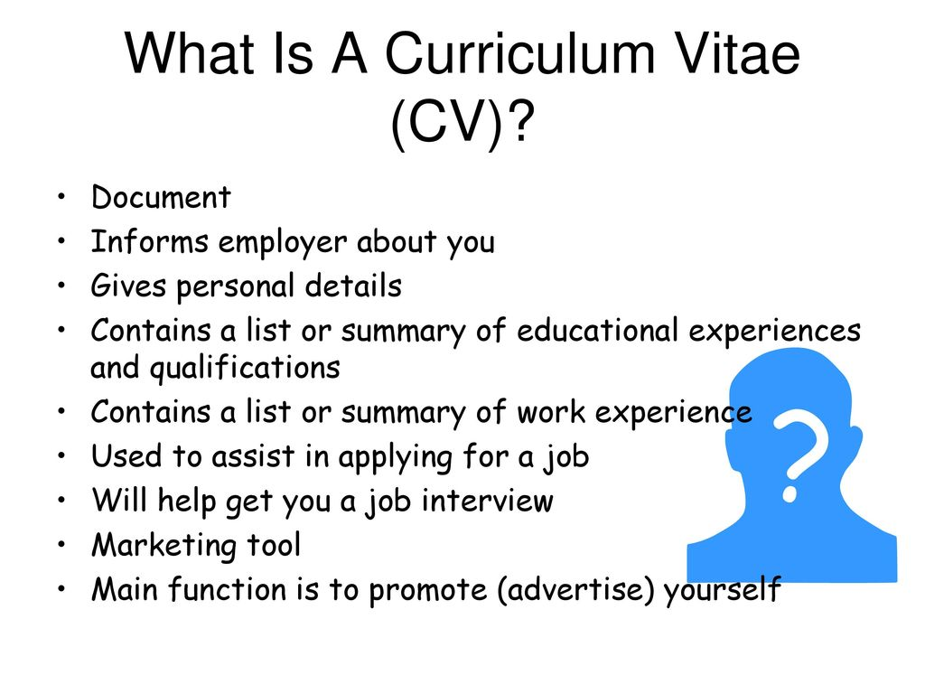 Curriculum Vitae Ppt Download
