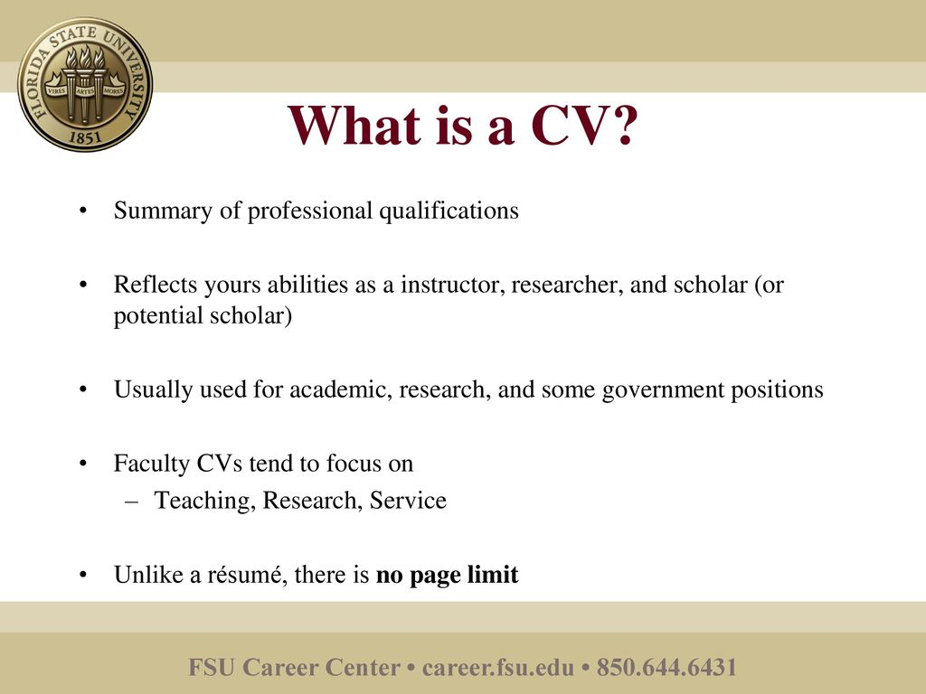writing a curriculum vitae ppt download