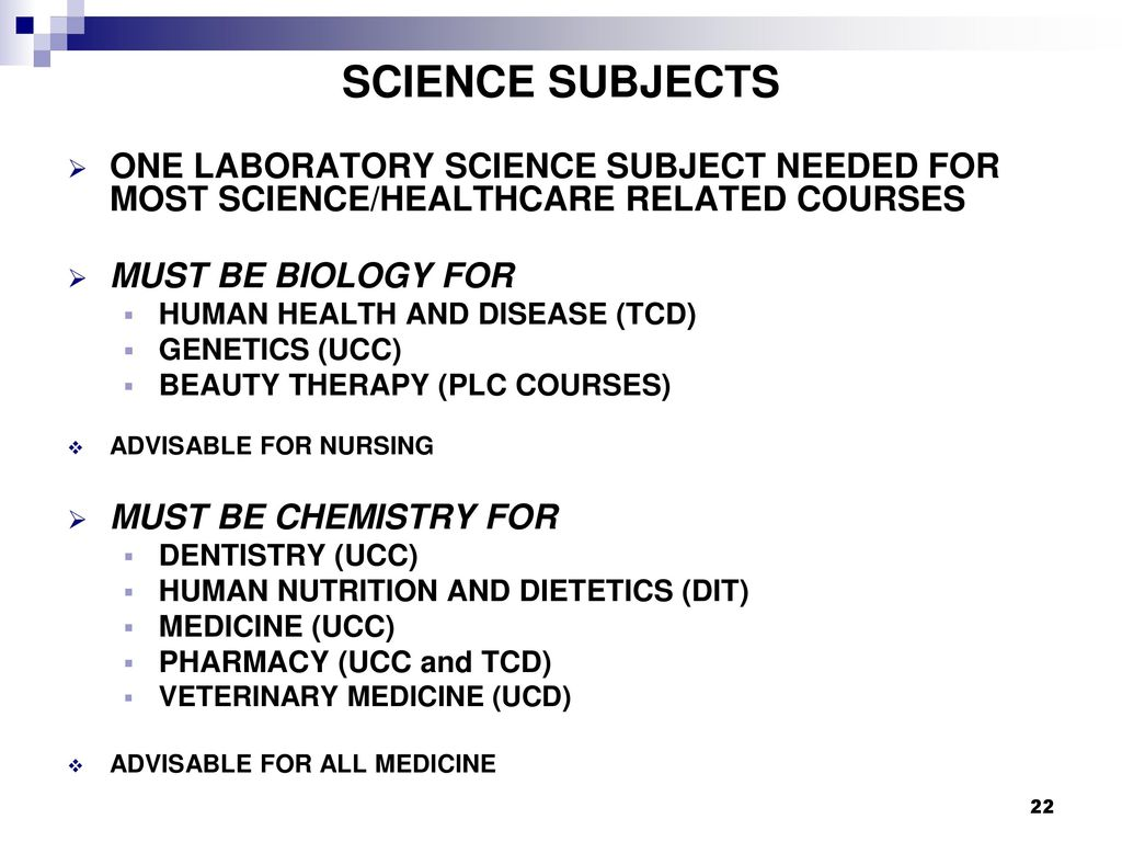 health related subjects