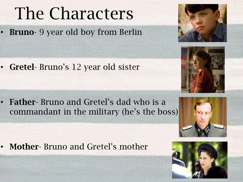 the boy in the striped pajamas characters