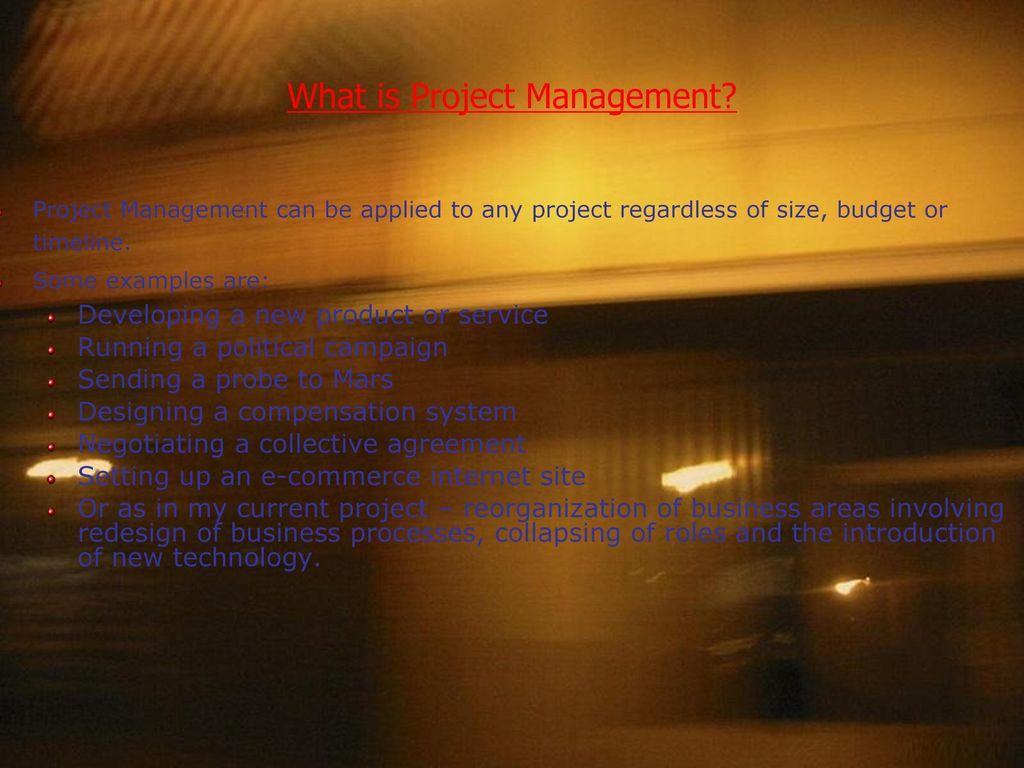 Project Management Introduction - ppt download