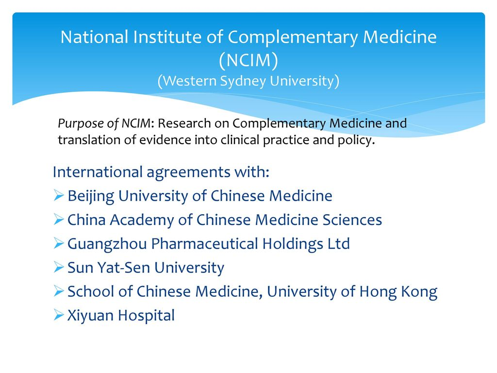 Progress on a performance framework for Chinese Medicine in