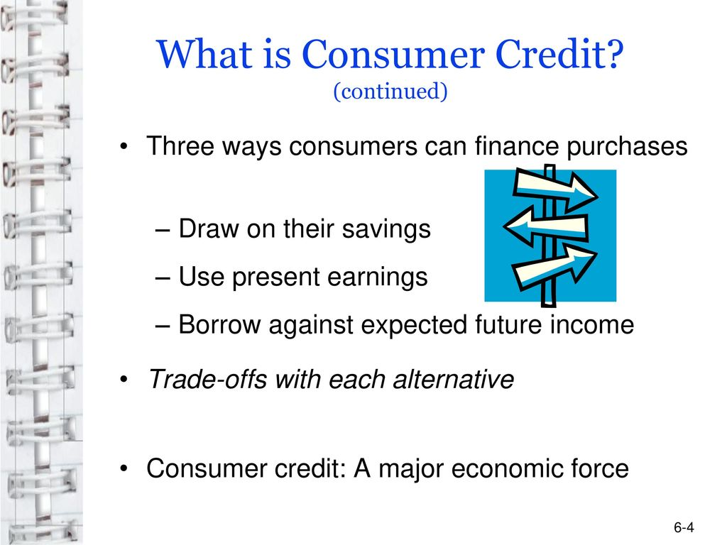 What is consumer credit? 80