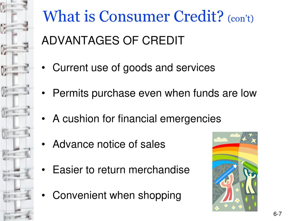What is consumer credit? 30