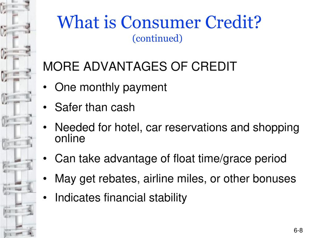 What is consumer credit? 46