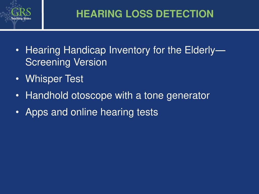 HEARING LOSS Suggestions for Lecturer -1-hour lecture - ppt download