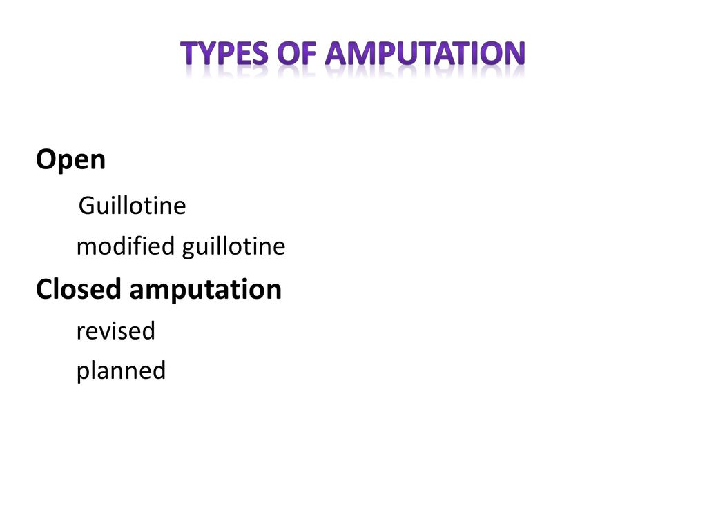 AMPUTATION  - ppt video online download