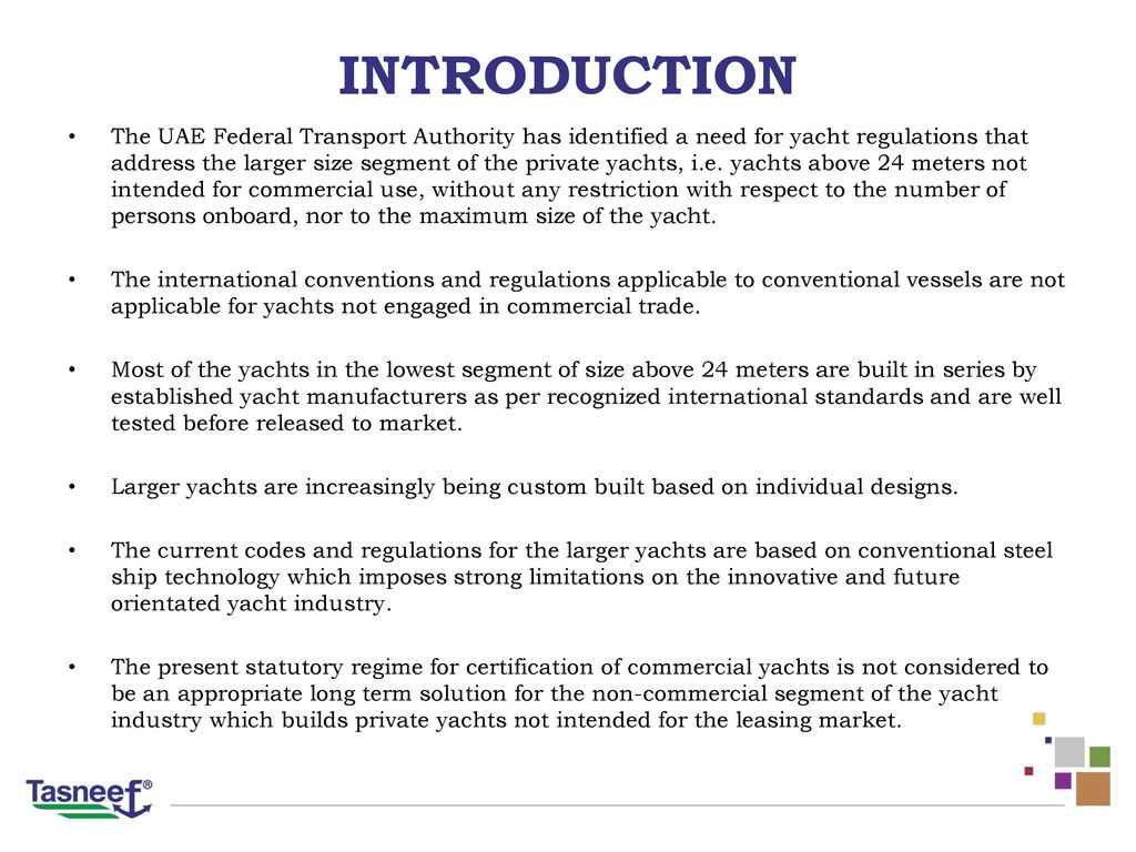 Uae yacht regulations private yachts. Ppt download.