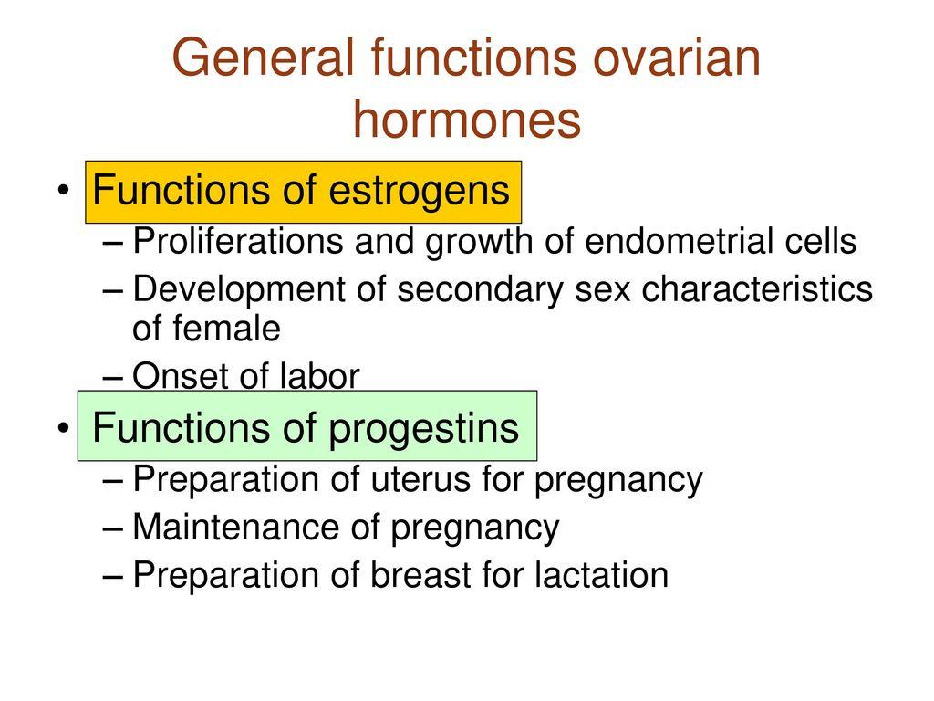 Functions Of Ovarian Hormones Ppt Video Online Download