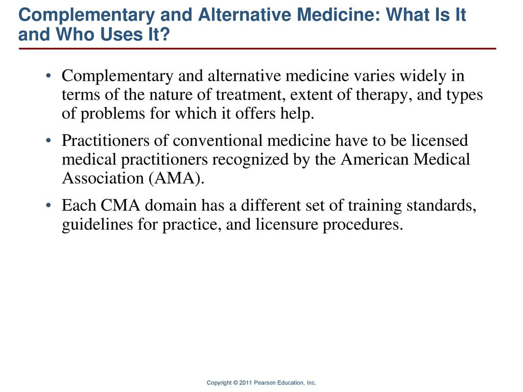 Complementary and Alternative Medicine - ppt video online