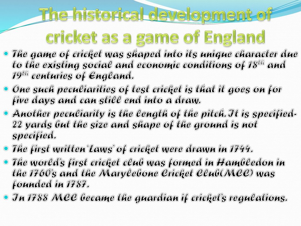 Basics of cricket prepered by: mr suresh kumar assistant.