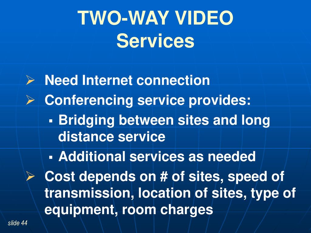 Additional services for sites