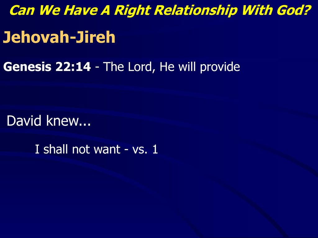 how can we have a right relationship with god