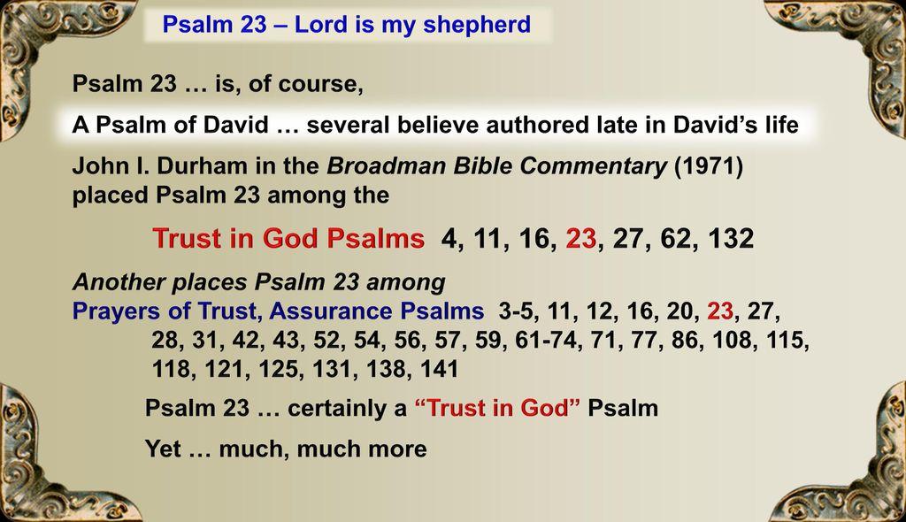 The Shepherd June 18 Psalm 23 He restoreth my soul - ppt