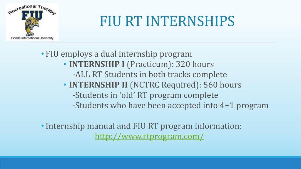 Fiu Rt Internship Orientation Ppt Download