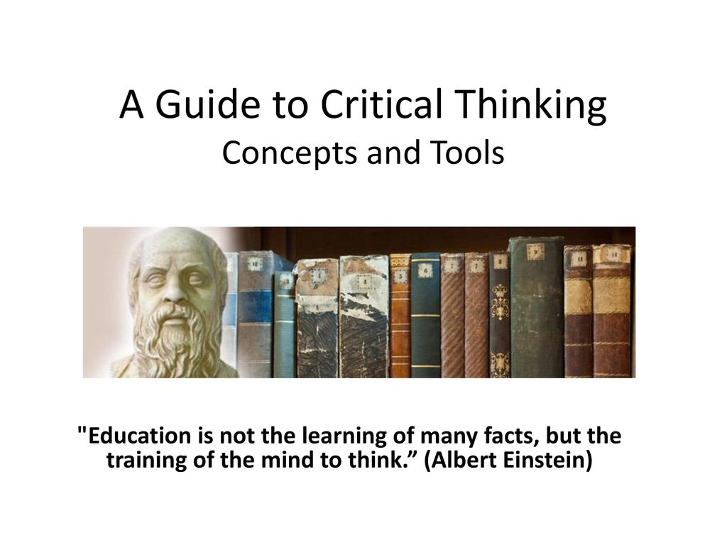 the miniature guide to critical thinking