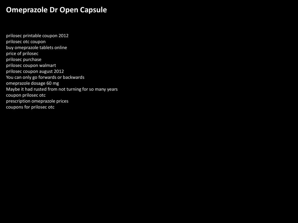 Omeprazole Dr Open Capsule Ppt Download