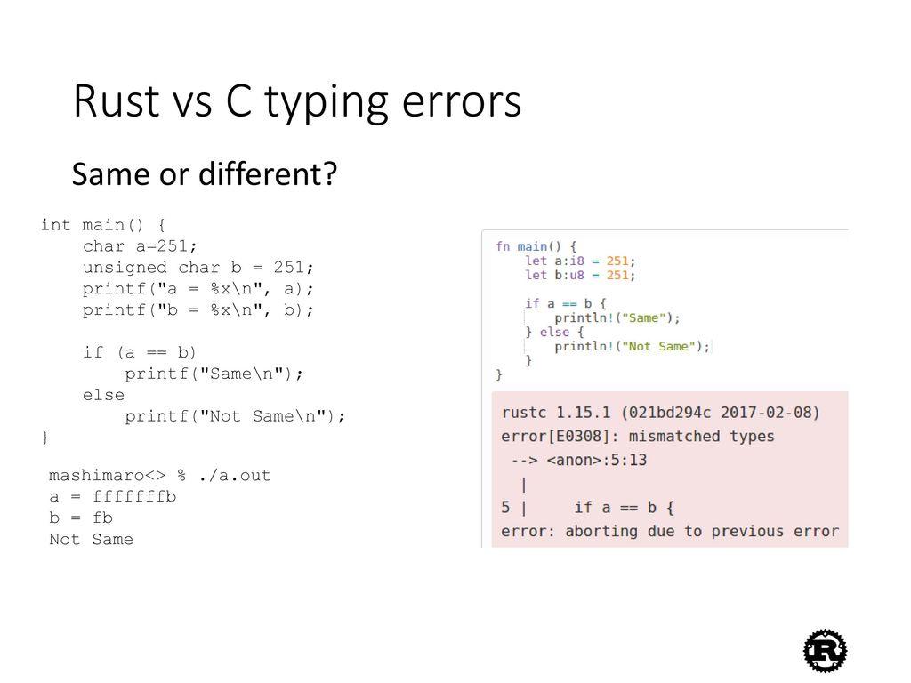 C vs  Rust  - ppt video online download